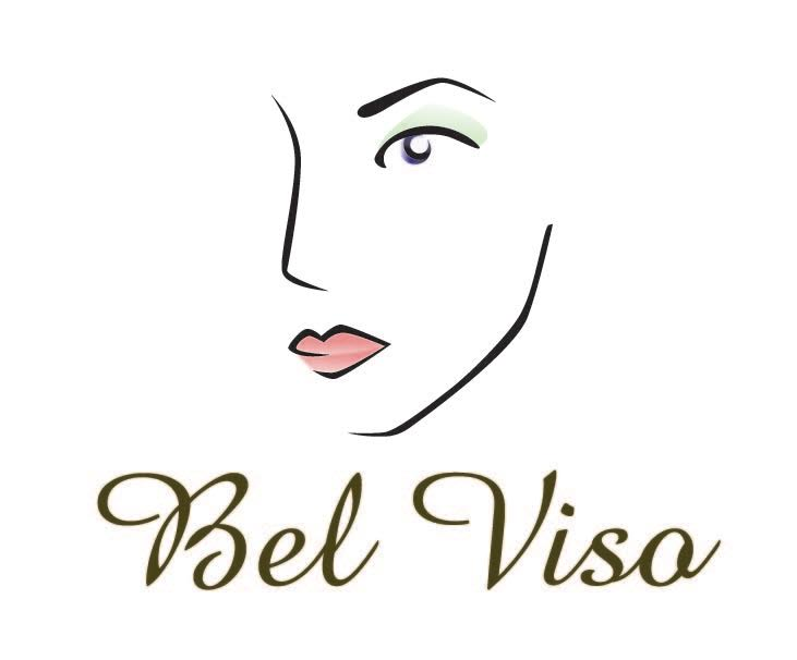 bel viso spa logo with woman's face